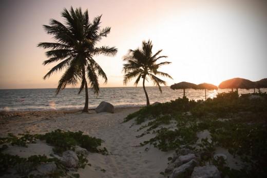 Sunset in Santa Lucia Beach