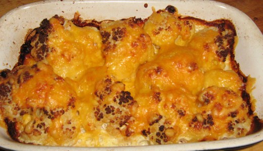 Cooked Cauliflower Cheese