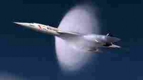 Protype Concorde smashing sound barrier