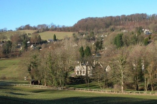 The village of Slad from across the valley