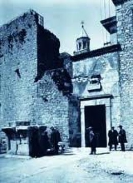 This was how the Silver Gate looked before it was bombarded during World War II.  Underneath the Diocletian's Palace were found many artifacts dating back to the First Century A.D.