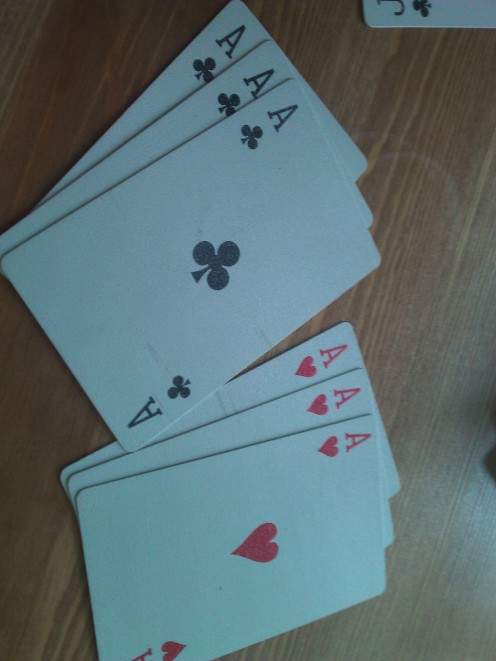 Also a pure sequence when playing with three packs - London- exact same three cards