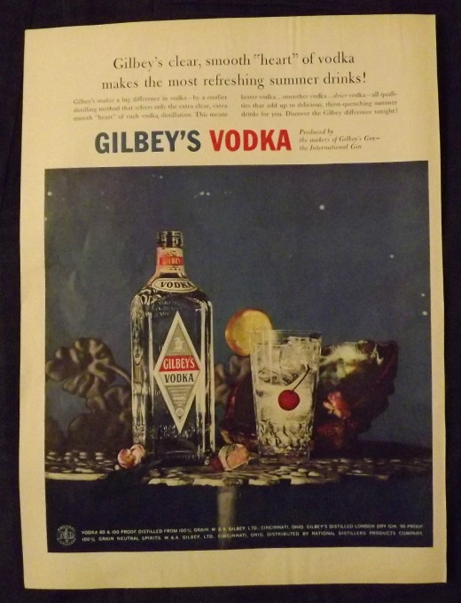 1957 Gilbey's Vodka Print Ad