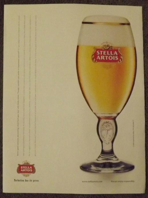 2007 Stella Artois Beer Print Ad