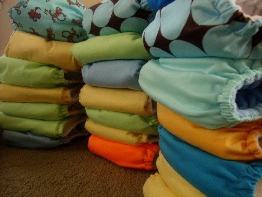 We love cloth! I am proud of our cloth diaper collection.