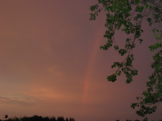 Rainbow at Sunset  - a Promise for the Future