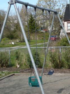 Swings are for adults as well.