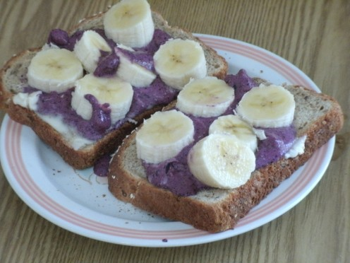 Blueberry-Flax Sandwich