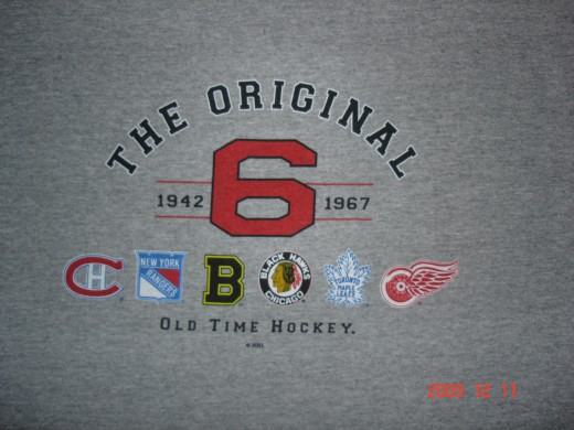 Montreal Canadiens, NY Rangers, Boston Bruins, Chicago Blackhawks, Toronto Maple Leafs, Detroit Red Wings