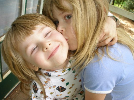 My sweet children. :)  Protect your children with mortgage insurance and a will.