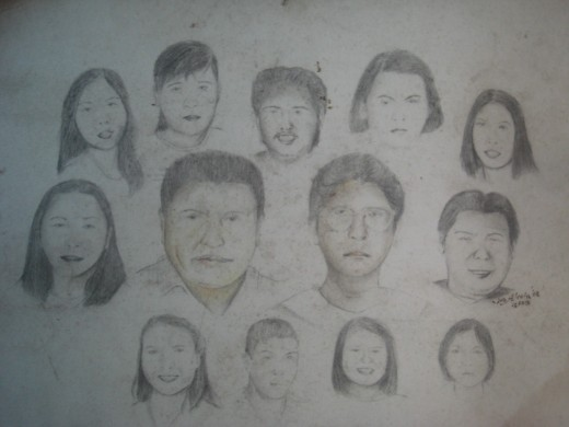 The Paradela Family of Quipayo, Calabanga, Philippines - Drawn by Travel Man way back 2003 (Photo by Travel Man)