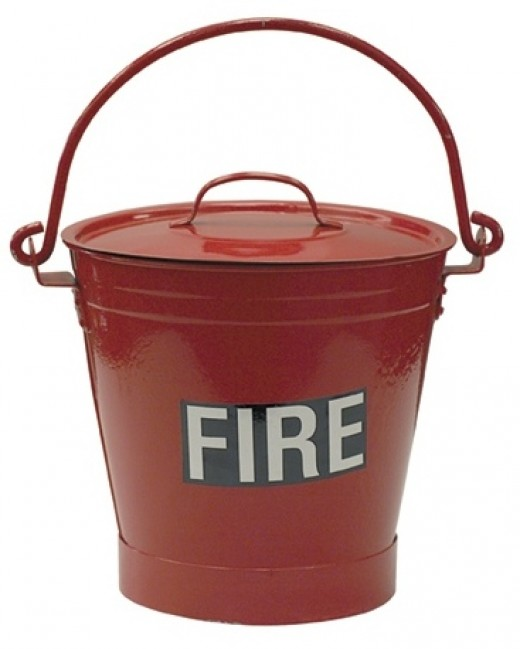 A fire bucket