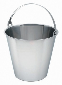 A metal bucket