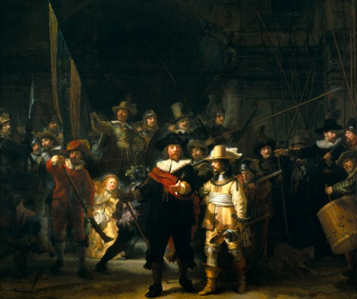 """The Militia Company of Frans Banning Cocq"", by Rembrandt, 1642 (also known as ""The Night Watch"""