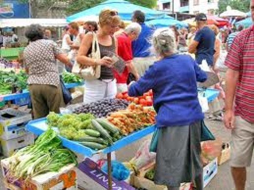 There's always lots of good, fresh vegetables to choose from, most have been brought in from the outskirts of Split.