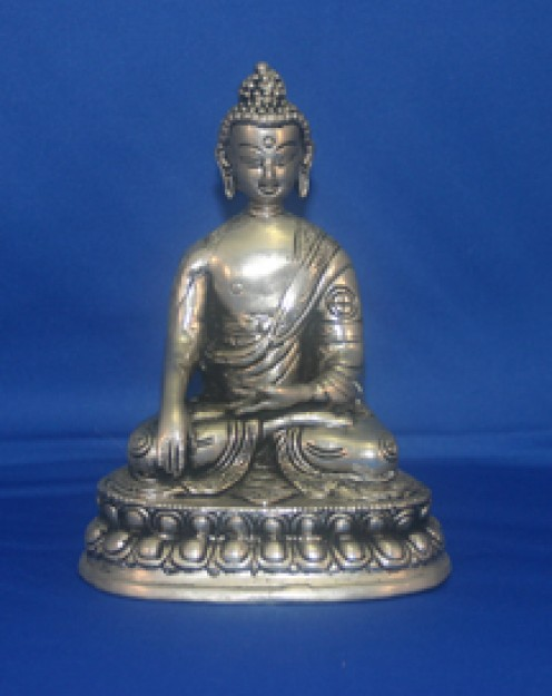 Thai Buddha in silver