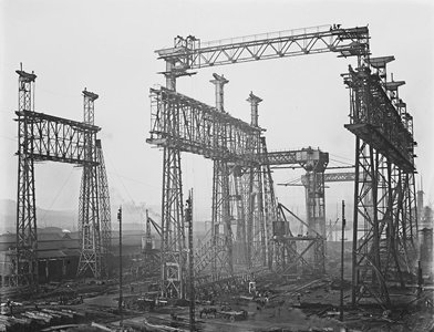 The Arrol Gantry at Harland & Wolff Shipbuilding Company.  It was built by Scottish Engineering foirm Sir William Arrol & Co.