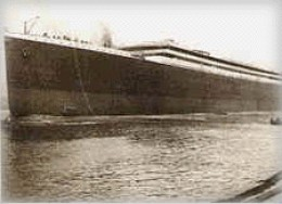 R.M.S Titanic with no funnels