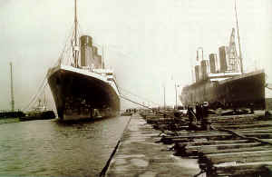R.M.S Titanic and R.M.S Olympic