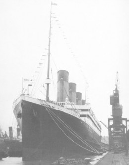 R.M.S Titanic at Southampton waiting on passengers to start her maiden voyage
