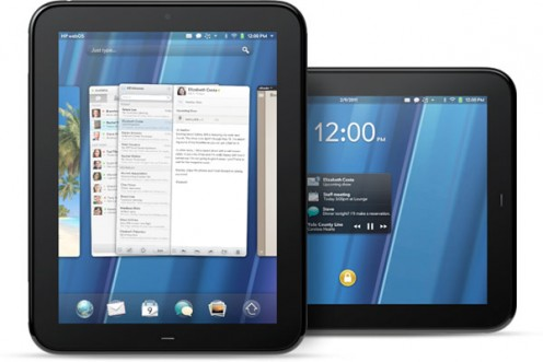 The HP TouchPad tablet uses the webOS operating system and lets you back up some of the information on your device to storage space in HP's cloud.