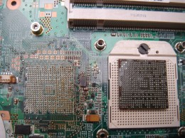 Tried reflow on a motherboard sold as NOT FIXED before. The reflow failed because the epoxy get underneath the chip.