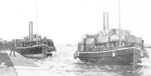 tenders were used in Cherboug, France and Queenstown, Ireland