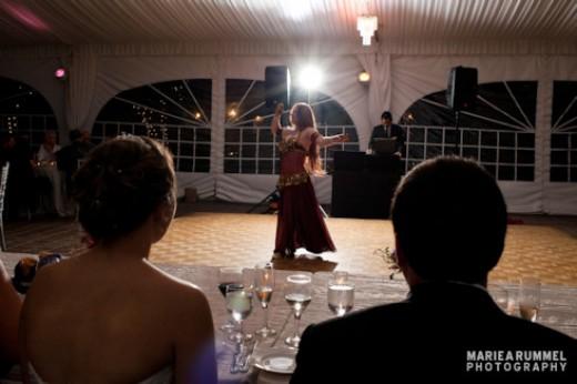 Belly dancer at wedding.