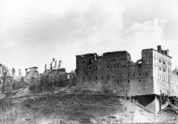 Monastery at Monte Cassino destroyed by American bombs on February 15, 1944.