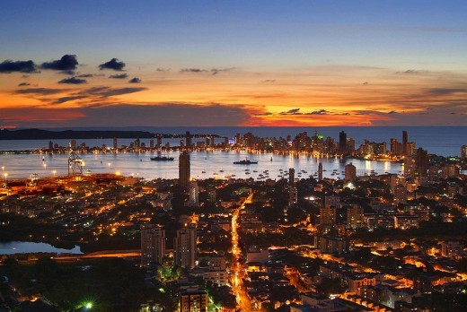 Sunset at Cartagena