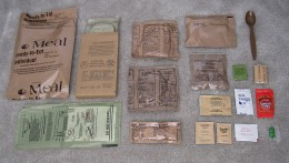 Here is what n MRE ( Meals Ready To Eat ) contains.