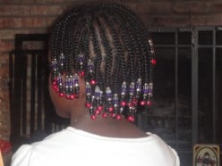 Natural Braided Ethnic / Black Child Hairstyles for Little and Big Girls Using Beads