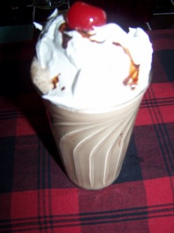 How To Make My Frosty Chocolate Milkshake With A Cherry On Top.