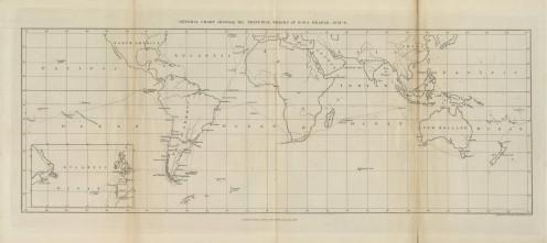 DARWIN'S VOYAGE MAP