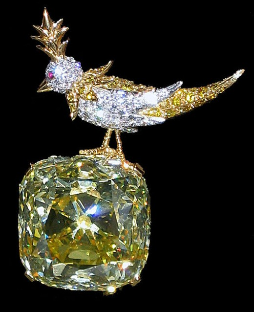 "The Tiffany Diamond in the Setting ""Bird on a Rock"""
