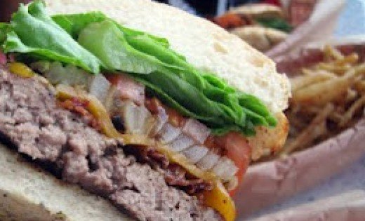 Kua `Aina's Bacon Burger