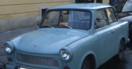 A Trabant in classic baby blue