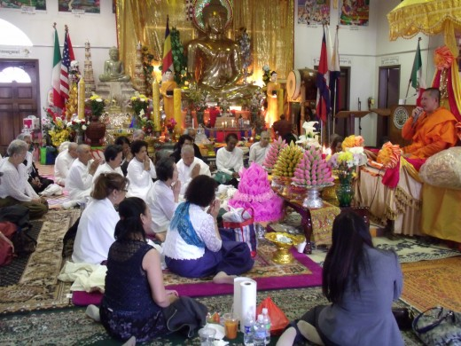Dhamma talk are usually held every afternoon during Khmer new year. Dhamma talk are spoken subjected formally based on the celebration event. -It was about why we celebrate Khmer New Year.