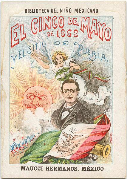 This Cinco De Mayo poster is still being displayed in Puebla, Mexico