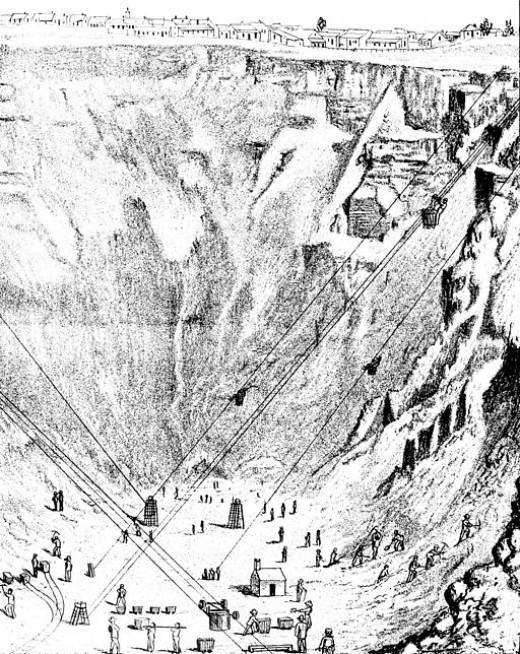 Public Domain View of Kimberley Mine