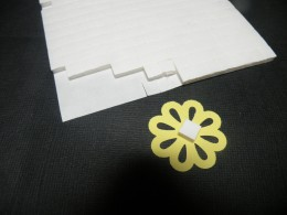 Foam Square adhered to top layer