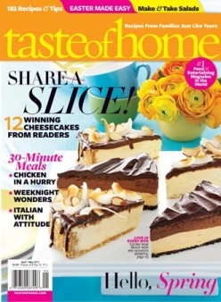 Taste of Home Magazine & Website -                                           A Review