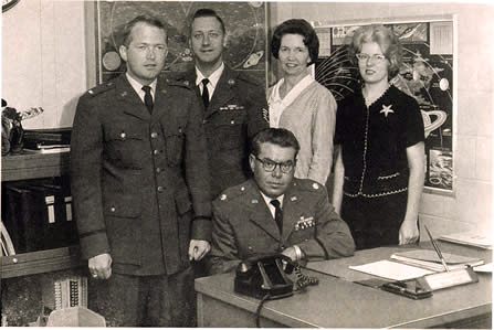 Project Blue Book personnel in 1964, then directed by Major Hector Quintanilla (seated)