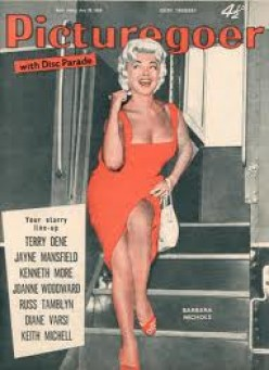 "BARBARA GRACING THE COVER OF AN EARLY HOLLYWOOD MOVIE MAGAZINE: ""PICTURE GOER."""