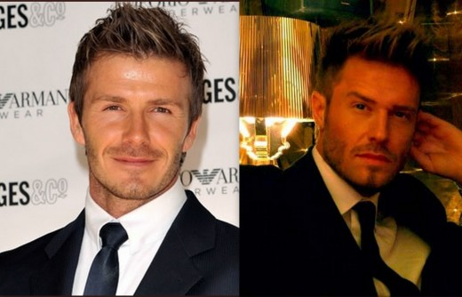David Beckham and Andy Harmer
