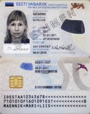 Estonian identity card