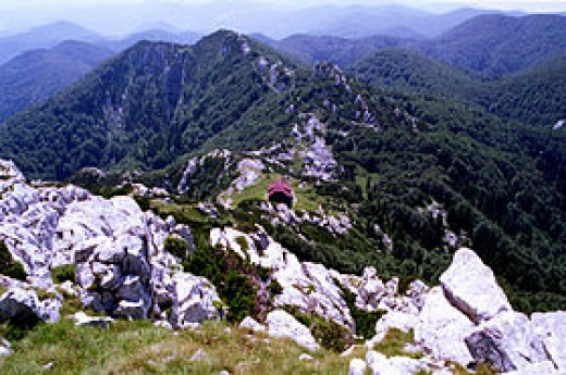 Veliki Risnjak, the highest point at Risnjak National Park, which is located at the Northern tip of Croatia near the Slovenian border.