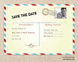 Customized Printable Postcard Invitation