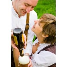 Couple enjoying beer