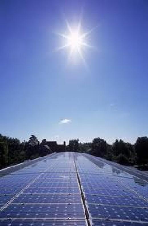 Solar panels soaking up the sun!
